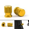 CNC Tire Valve Wheels Stem Pressure Dust Caps For Universal Honda KTM Kasasaki Yamaha Gold