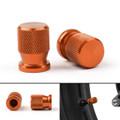 CNC Tire Valve Wheels Stem Pressure Dust Caps For Universal Honda KTM Kasasaki Yamaha Orange