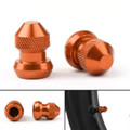 CNC Tire Valve Wheels Stem Pressure Dust Caps Screws For Universal CBR600 KTM Yamaha R3 Orange