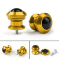 Pair 6mm Swingarm Sliders Spools For Yamaha MT01 MT09 YZF-R3 R1 MAX 530 Gold