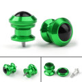 Pair 6mm Swingarm Sliders Spools For Yamaha MT01 MT09 YZF-R3 R1 MAX 530 Green