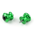Pair 6mm Swingarm Sliders Spools For Yamaha MT01 MT09 YZF-R3 R1 MAX 530 Green