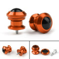 Pair 6mm Swingarm Sliders Spools For Yamaha MT01 MT09 YZF-R3 R1 MAX 530 Orange