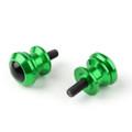 10mm Billet Swingarm Spools Sliders Universal For Kawasaki Ninja 250R 1000 ZX 6R ZX10R Green