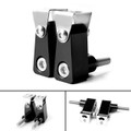 2Pcs Universal Lower Fork Mount Spotlight Holder Lights Bracket For XMAX 125/250/300 Black