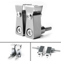 2Pcs Universal Lower Fork Mount Spotlight Holder Lights Bracket For XMAX 125/250/300 Silver