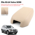 Synthetic Leather Beige Center Console Lid Armrest For Volvo XC90 03-14 Cover