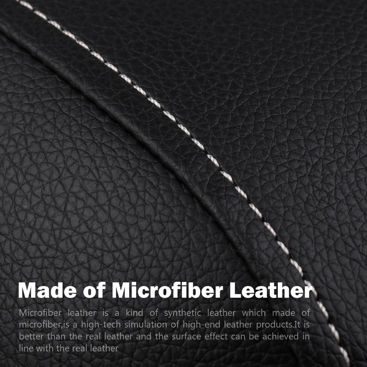 For Volvo XC90 03~14 Synthetic Leather Armrest Center Console Lid Cover Gray New