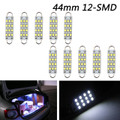 "10x Super White Festoon 44mm 12-SMD Rigid Loop 1.73"" LED Light Bulbs 561 562 567"