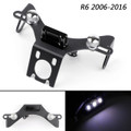 CNC License Plate Bracket Number Holder Plate For Yamaha YZF R6 2006-2016 Black