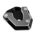 Kickstand Side Stand Plate Extension Pad For Kawasaki Ninja 650 2017 ER6N ER6F Titanium