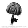 Adjustable Plug-In Driver Rider Backrest Kit For Harley Touring Road King 97-17 Black