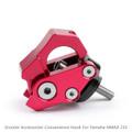 Carry Helmet Bottle Hanger Holder CNC Aluminum Alloy Hooks for Yamaha NMAX 155 2015-2018 Red