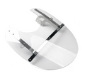 ABS Front Fork Windshield WindScreen Universal For Honda Kawasaki Harley Suzuki Yamaha Clear