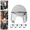 ABS Front Fork Windshield WindScreen Universal For Honda Kawasaki Harley Suzuki Yamaha Smoke