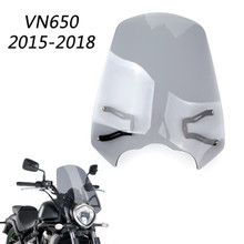 Windscreen Windshield Screen w/ Mount Bracket For Vulcan S 650 2015-2018 Gray
