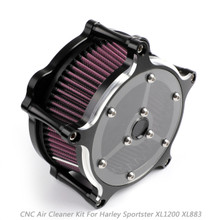 CNC Air Cleaner Filter For Harley Iron 883 09-14 Forty Eight 10-14 Glass