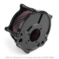 CNC Air Cleaner Filter For Harley Iron 883 09-14 Forty Eight 10-14 Turbine