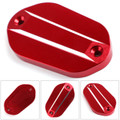 Front Rear Brake Fluid Reservoir Cap For Kawasaki Ninja 400 2017-2018 Red