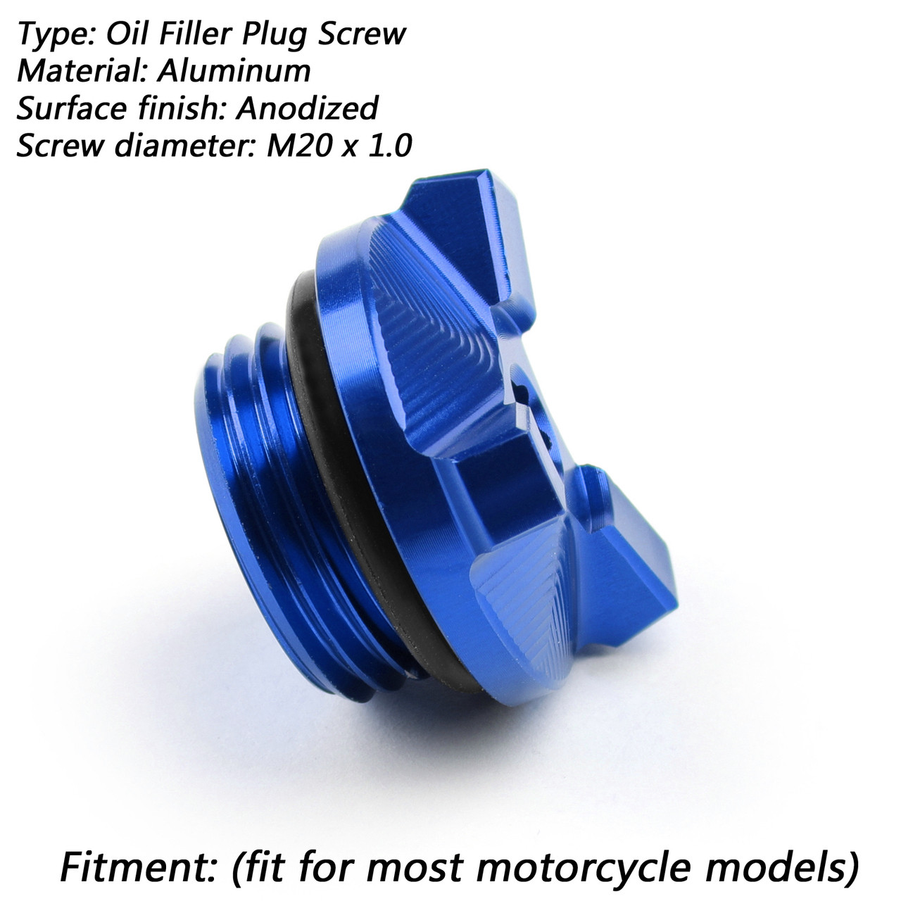 M20 Engine Oil Filler Plug Fill Cap Screw For Yamaha YZ80/85 YZ125 YZ250  YZ250F WR250F YZ450F YZ125X T-MAX XSR900 Blue