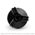 M20 Engine Oil Filler Plug Fill Cap Screw For Suzuki 250SB V-STORM250 V-STORM1000/XT V-STORM650/XT Black