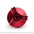 M20 Engine Oil Filler Plug Fill Cap Screw For Suzuki 250SB V-STORM250 V-STORM1000/XT V-STORM650/XT Red