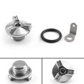 M20 Engine Oil Filler Plug Fill Cap Screw For Kawasaki KLX250 D-TRACKER VERSYS650 VERSYS1000 NINJA 400R NINJA 600R Z1000 Silver