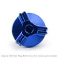 M20 Engine Oil Filler Plug Fill Cap Screw For Triumph DAYTONA 675/675 R STREET TRIPLE RX STREET TRIPLE/STREET TRIPLE R TIGER 800/TIGER EXPLORER Blue