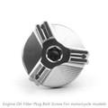 M20 Engine Oil Filler Plug Fill Cap Screw For Ducati 899 1199 1299 PANIGALE XDIAVEL S HYPERMOTARD SP 796 MONSTER 696 796 1100 EVO SCRAMBLER Silver