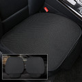 Ice Silk Car Front Seat Cover Full Surround Breathable For Auto Chair Cushion Black