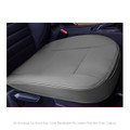 3D Universal Car Front Seat Cover Breathable PU Leather Pad Mat Chair Cushion Gray