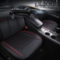 PU Leather Bamboo Charcoal Car Seat Cover Cushion Full Surround Breathable Black