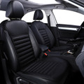 PU Leather Buckwheat Hull Car Front Seat Cover Cushion Surround Breathable Black