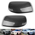 Carbon Fiber Door Side Mirror Cover Caps For BMW E60 5 Series 2004-2007 (1Pair Set)