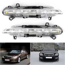 2PCS LED DRL Daytime Running Fog Light For Mercedes Mercedes S400 Hybrid 10-13 R350 11-12