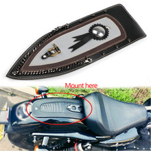 Tie Leather Plain Rear Fender Bib For Harley Sportster XL883 Solo Seat 04-16