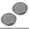 2PCS Car Stainless Steel Big Door Speaker Cover Trim For Ford Mustang 2015-2018