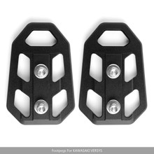 Front footpegs foot pegs For KAWASAKI 2017-2018 Versys X 300 2015-2018 Versys 650 1000 Black