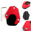 1X Kickstand sidestand stand extension enlarger pad For HONDA CRF250 RALLY 17-18 Red