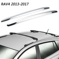 Aluminum Factory Top Roof Rack Side Rails Bar E For Toyota RAV4 2013-2017