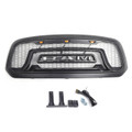 Grille ABS Honeycomb Bumper Grill Mesh Rebel Style For 13-18 Dodge Ram 1500 BLACK