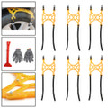 6PCS Tire Chains Snow Anti-skid Thick Tendon Emergency Thickening of Car SUV