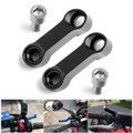 10mm M10 Handlebar Mount Mirror Riser Extender Adaptor Adapter Black
