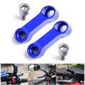 10mm M10 Handlebar Mount Mirror Riser Extender Adaptor Adapter Blue