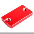 CNC FRONT Brake Fluid Reservoir Cap For Suzuki GSX-S750 16-18 DL650 04-17 VanVan 200 03-13 Red