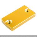 CNC FRONT Brake Fluid Reservoir Cap For Suzuki GRADIUS400 10-12 GSR250/S/F 12-17 Gold