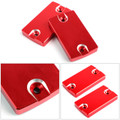 Front Brake Fluid Reservoir Cap 2PCS For SUZUKI HAYABUSA GSX1300R 99-18 BANDIT1250/S/F 07-16 Red