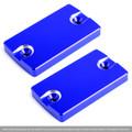 Front Brake Fluid Reservoir Cap 2PCS For SUZUKI SV1000 03 DL1000 V-STROM1000/XT 07-17 Blue