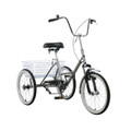 "Adult Folding Tricycle Trike 20"" 3 Wheeler Bike Bicycle Portable Gray"