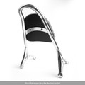 Sissy Bar Backrest w/Pad For Harley Sportster Iron Nightster 883 1200 XL Chrome